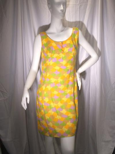 Womens Yellow Vintage Dress that makes you smile, size 6