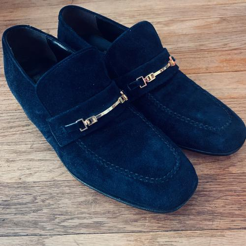 Men's Blue Suede Shoes size 7 1/2